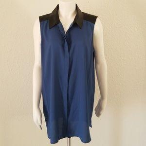 Kenneth Cole Moto Style  Long Tunic Shirt L